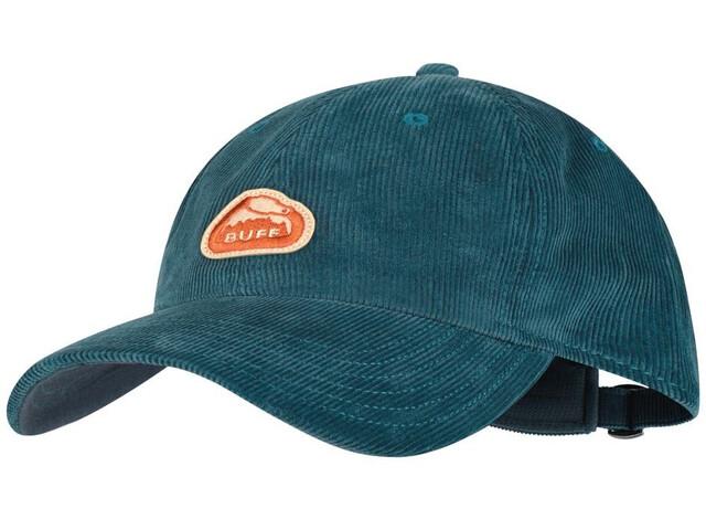 Buff Baseball Cap, solid blue